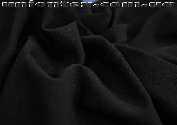 Креп- дайвинг трикотаж черный, фото 2