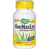 Натуральное слабительное Nature's Way, Aloemaxlax с Каскара Саграда, 445 мг, 100 растительных капсул