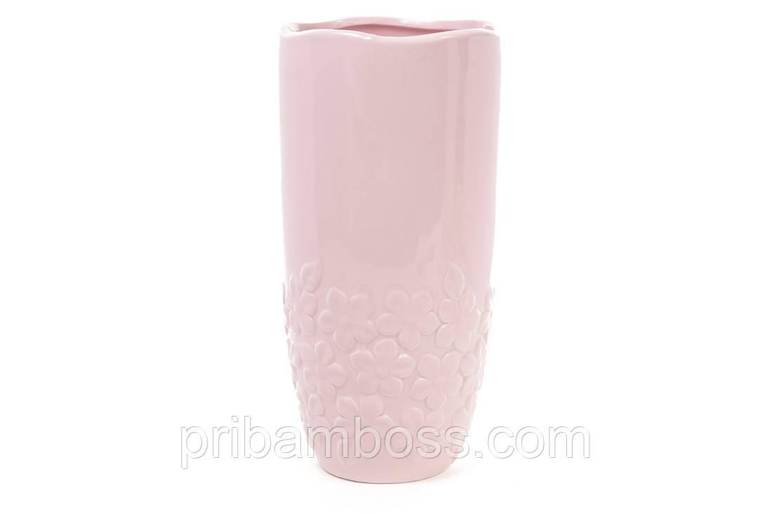 Керамическая ваза 30см Объемные цветы