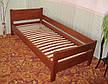 """Кровать белая """"Эконом"""". Массив - сосна, ольха, береза, дуб., фото 4"""