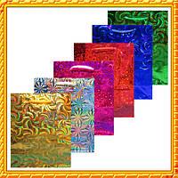 Пакет Подарочный Голографический 14,5 * 12 * 5,5 см (малый) Код 1180