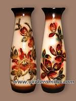 Ваза керамическая декоративная Диана роспись, Диана перламутр