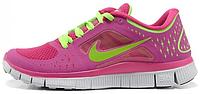 Женские кроссовки Nike Free Run Plus 3 (найк фри ран) розовые