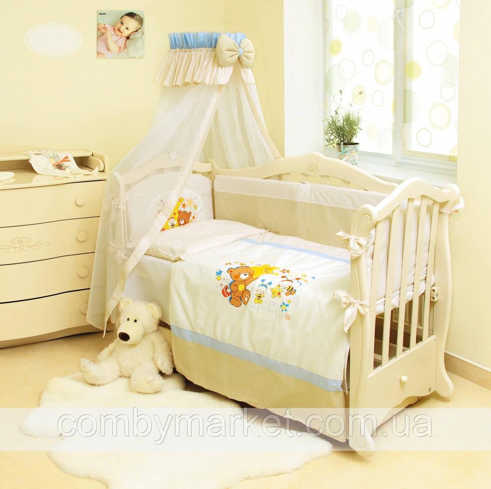 Детская постель Twins Evolution Мишки на луне А-011 7 эл.