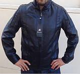 Мужская куртка кожзам Casual, фото 3