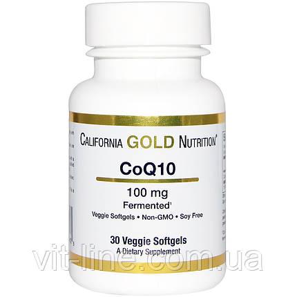 California Gold Nutrition, CoQ10, 100 мг, 30 мягких капсул в растительной оболочке, фото 2