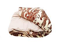 Плед-одеяло двуспальное 180/220 холлофайбер, ткань микрофибра, иск. велюр