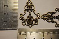 Коннекторы для серег 2 шт. Цвет бронза.