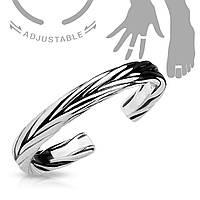 Безразмерное кольцо на фалангу с орнаментом колосок