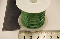 Нитка резинка силикон зеленый