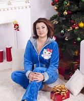 Женская пижама махровая-Сова