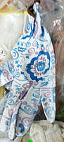 Перчатки рабочие женские, нейлон с ПВХ точка, цветок