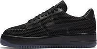 Женские кроссовки Nike Air Force (найк аир форс низкие) черные