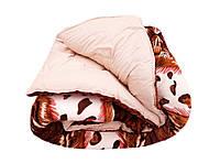 Одеяло-плед двуспальное 180/220 холлофайбер, ткань микрофибра, велюр иск.
