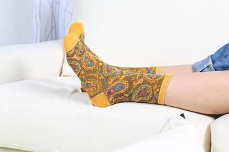 Шкарпетки жіночі бавовна Боха стиль Індія 22-25см