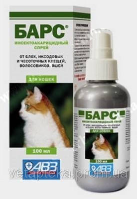 БАРС спрей для кошек, 100мл