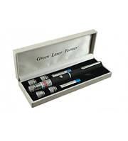 Мощная лазерная указка с 5 насадками LASER GREEN   30 mW    . e