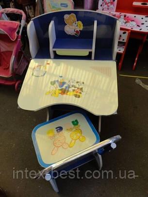 Регулируемая детская парта растишка со стульчиком 60304 (прототип Bambi 2881-01), фото 2