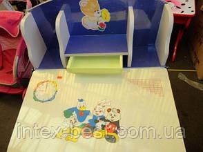 Регулируемая детская парта растишка со стульчиком 60304 (прототип Bambi 2881-01), фото 3