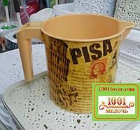 Кружка пластиковая Еlif (Элиф), с рисунком Pisa