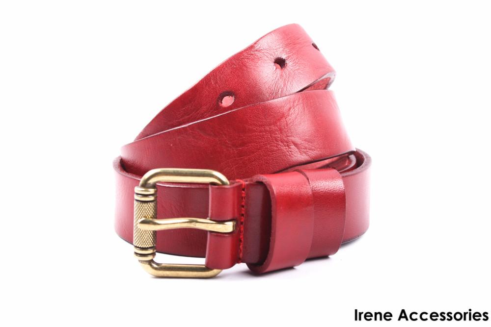 Модный женский ремень Miss sixty цвет красный, натуральная кожа (длина 105 см, ширина 3 см)