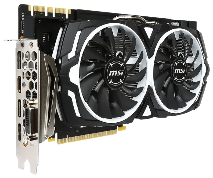 "Видеокарта MSI GTX1080 Armor 8G 256bit GDDR5X ""Over-Stock"" Б/У"