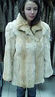 Натуральный мех из собаковидной лисы. Полушубок из натурального меха собаковидной лисы (лисопес).