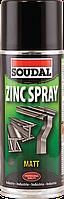 Антикоррозионный аэрозоль Soudal Zinc Spray 400мл