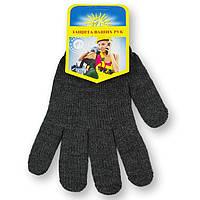 Перчатки двойные зимние, трикотаж, черные