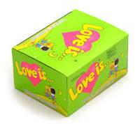 Жвачка Love is Турция (цена за блок) вкус яблоко-лимон (Лавиз). Опт и розница