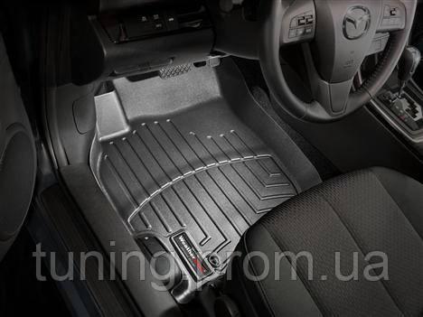 Коврики салона передние с бортами чёрные Mazda 6 2007-2013