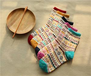 Шкарпетки жіночі бавовняні Етностиль