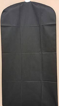 Чехол для хранения одежды флизелиновый черного цвета. Размер 60 см*120 см, в упаковке 3 штуки, фото 2