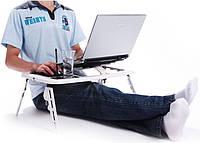 Раскладной портативный столик - подставка для ноутбука с охлаждением Е-Table, Скидки