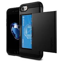 Чехол Spigen для iPhone 7 Slim Armor CS , Black, фото 1