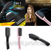 Электрическая расческа-ИОНИЗАТОР-выпрямитель 2 in 1 PTC Hair Brush с керамическим покрытием!, Скидки, фото 2