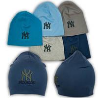 Трикотажные шапки детские с вышивкой Brooklyn NY, Y83