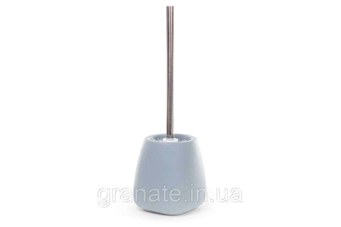 Ершик для унитаза с подставкой, цвет голубой 35 см