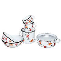 Набор детской эмалированной посуды Epos Dog 163