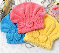 Полотенце-Шапочка для сушки волос из пушистой микрофибры