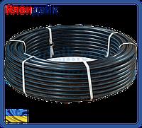 Труба полиэтиленовая водопроводная черная с синей полосой техническая D32 (200)