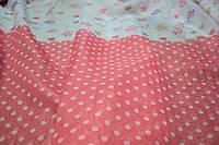 Тюль вуаль Бантики розовый