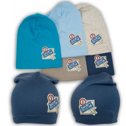 Трикотажные шапки детские с нашивкой Boy's Collection, Y87