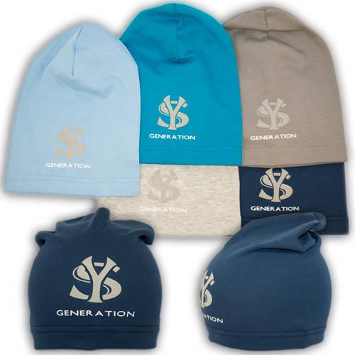 Трикотажные шапки детские с принтом YS Generation, Y88