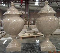 Мраморная ваза с крышкой СЛЛМ - 20