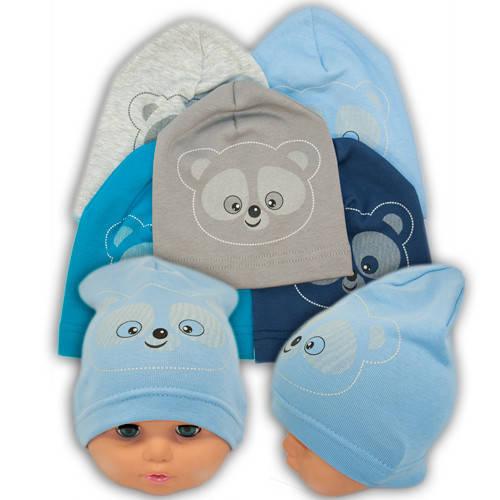 Трикотажные шапки детские с принтом Bear, Y89