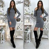 Короткое мини платье с длинным рукавом