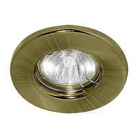 Встраиваемый светильник Feron DL10 G5.3 МR-16 античное золото