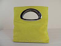 Стильная сумочка из замша (Италия) Желтый