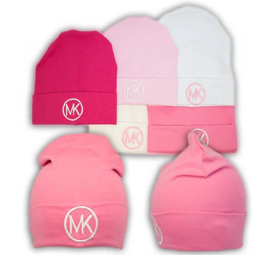 Трикотажные шапки детские с вышивкой MK, Y93